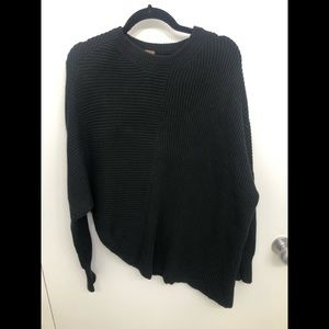 Free People Back Asymmetrical knit sweater size XS